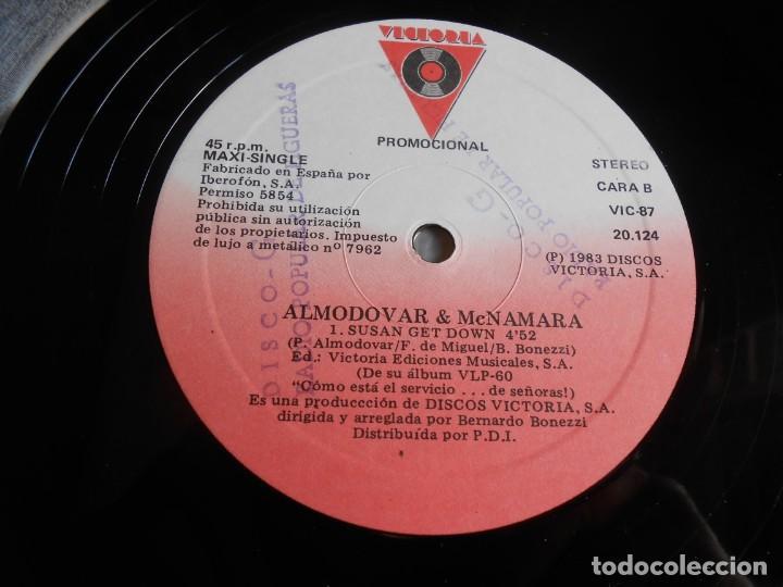 Discos de vinilo: ALMODOVAR & McNAMARA, MAXI SINGLE, SUSAN GET DOWN + 2, AÑO 1983 PROMO - Foto 4 - 277679698