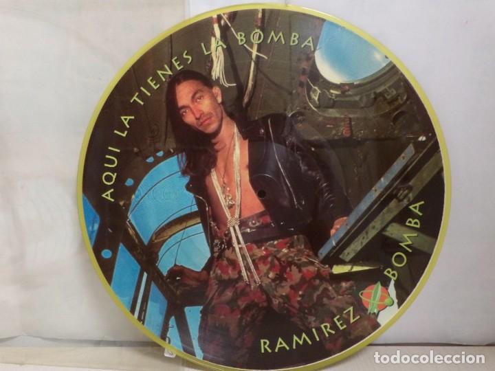 Discos de vinilo: RAMIREZ AQUI LA TIENES LA BOMBA--PICTURE- - Foto 3 - 277682088