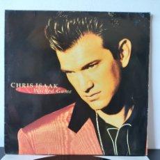 Discos de vinilo: CHRIS ISSAK. WICKED GAME. 1991. UK & EUROPE.. Lote 277683448