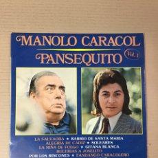 Discos de vinilo: MANOLO CARACOL, PANSEQUITO, VOL. 1. Lote 277692458