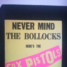 Discos de vinilo: DISCAZO SEX PISTOLS - NEVER MIND THE BOLLOCKS HERE'S THE SEX PISTOLS, 1977 UK,BUEN ESTADO. Lote 277696743