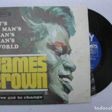 Discos de vinilo: SINGLE - JAMES BROWN - IT'S A MAN'S MAN'S WORLD - I'VE GOT TO CHANGE - SONOPLAY - AÑO 1967.. Lote 277698508