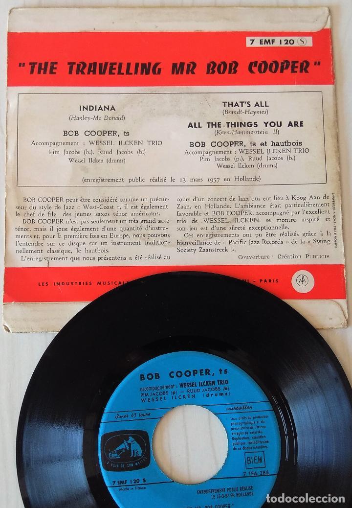 Discos de vinilo: BOB COOPER - THE TRAVELLING MR. BOB COOPER LA VOIX THE SON MAITRE EDIC. FRANCESA - 1960 - Foto 2 - 277706858