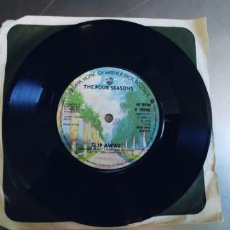Discos de vinilo: THE FOUR SEASONS-SINGLE DECEMBER 1963-UK-SIN FUNDA. Lote 277707738