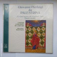 Discos de vinilo: GIOVANNI PIERLUIGI DA PALESTRINA. CHOEUR CONCINITE DE LOUVAIN. DIR. KAREL AERTS. LP. TDKDA41. Lote 277708873