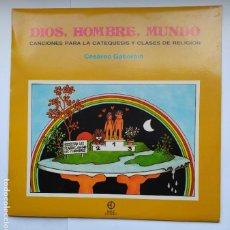 Discos de vinilo: DIOS, HOMBRE, MUNDO. - CESAREO GABARAIN. LP. TDKDA41. Lote 277709018