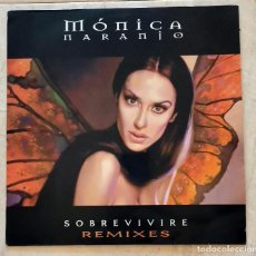 Discos de vinilo: MÓNICA NARANJO – SOBREVIVIRE (REMIXES) PROMO MAXI VINILO SPAIN 2000 - MUY RARO. Lote 277709278