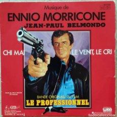 Discos de vinilo: ENNIO MORRICONE – CHI MAI FRANCE 1981 -BELMONDO. Lote 277710828