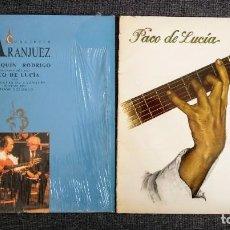 Discos de vinilo: 2 LP / PACO DE LUCIA INTERPRETA A M. DE FALLA (1978) + CONCIERTO DE ARANJUEZ PACO DE LUCIA (1991). Lote 277711898
