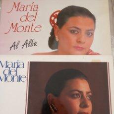 """Discos de vinilo: LOTE PACK 2 VINILO LP MARIA DEL MONTE """" AL ALBA-BESOS DE LUNA """". Lote 277712308"""