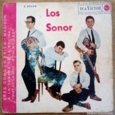 Discos de vinilo: LOS SONOR -ERES COMO LA BRISA -TWIST DE LA RISA, ETC.. Lote 277717648