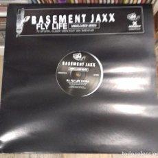 Discos de vinilo: BASEMENT JAXX - FLY LIFE (UNRELEASED MIXES) ED UK 1997. Lote 277720533