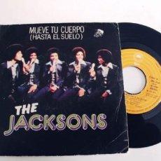 Discos de vinilo: THE JACKSONS-SINGLE MUEVE TU CUERPO. Lote 277724173