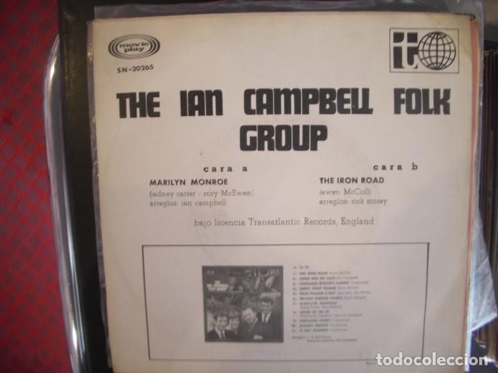Discos de vinilo: THE IAN CAMPBELL FOLK GROUP- MARILYN MONROE. SINGLE. - Foto 2 - 277727773