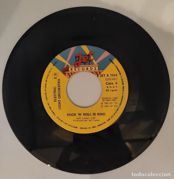 """Discos de vinilo: Vinilo de 7 pulgadas de Electric Light Orchestra que contiene """"Rock """"N"""" Roll is King"""" y """"after all"""". - Foto 3 - 277729123"""