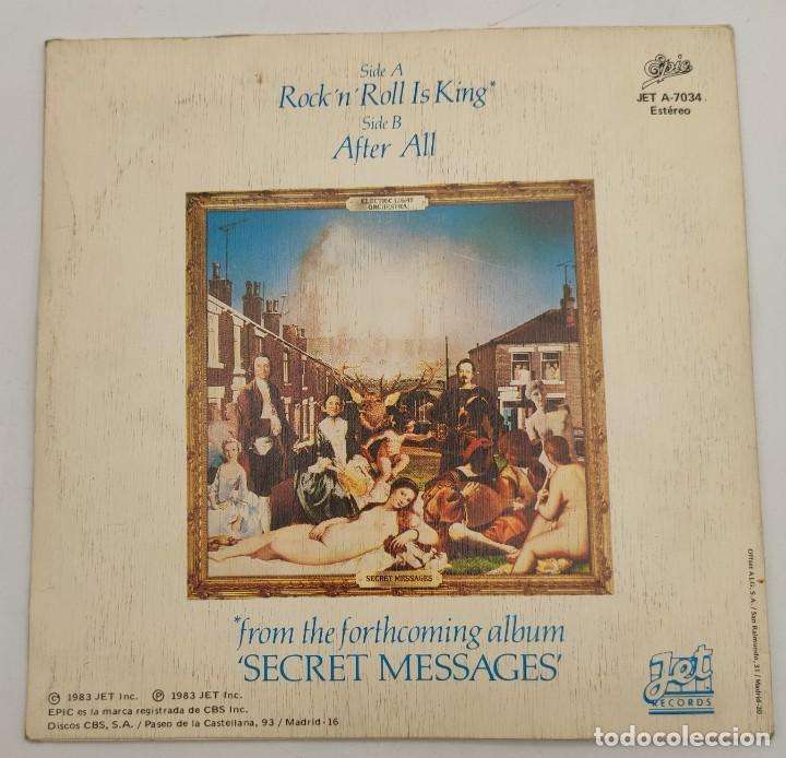 """Discos de vinilo: Vinilo de 7 pulgadas de Electric Light Orchestra que contiene """"Rock """"N"""" Roll is King"""" y """"after all"""". - Foto 4 - 277729123"""