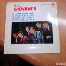 Discos de vinilo: SOLO CARATULA -- LOS GIOVANES - LAS CHICAS QUIEREN SABER / EL VENDEDOR DE MELONES. Lote 277730243