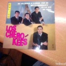 Discos de vinilo: SOLO CARATULA -- EP LOS CHEROKEES, GO AWAY, NO VOLVERÉ A LLORAR POR TI, BELLA DURMIENTE, YA LO VES. Lote 277730383