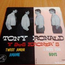 Discos de vinilo: EP DE TONY RONALD Y SUS KRONER'S ... TWIST AMOR + 3 *** LA VOZ DE SU AMO - AÑO 1964. Lote 277735793