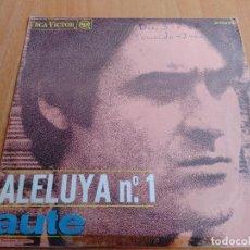 Discos de vinilo: LUIS EDUARDO AUTE ALELUYA Nº 1 ROJO SOBRE NEGRO RCA VICTOR 1967. Lote 277736773
