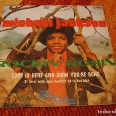 Discos de vinilo: MICHAEL JACKSON SINGLE ROCKIN´ ROBIN TAMLA MOTOWN PROMOCIONAL ESPAÑA 1972. Lote 277738758