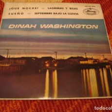 Discos de vinilo: DINAH WASHINGTON EP 45 RPM QUÉ NOCHE MERCURY ESPAÑA 1962. Lote 277739478