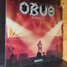 Discos de vinilo: 2 X LP ALBUM , OBUS EN DIRECTO , CHAPA DISCOS. Lote 277739733