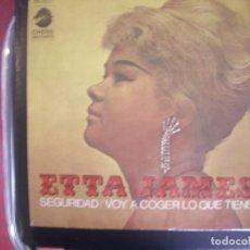 Discos de vinilo: ETTA JAMES- SEGURIDAD. SINGLE.. Lote 277739993
