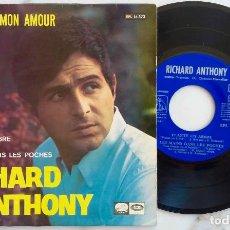Discos de vinilo: RICHARD ANTHONY. ARANJUEZ, MON AMOUR + 2 EP ORIGINAL ESPAÑA 1967. Lote 277740598