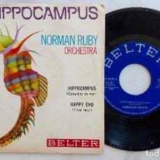 Discos de vinilo: NORMAN RUBY ORCHESTRA, HIPPOCAMPUS. SINGLE ORIGINAL ESPAÑA AÑO 1970. Lote 277741198