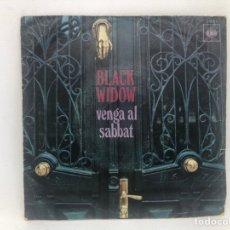 Discos de vinilo: SINGLE BLACK WIDOW / VENGA AL SABBAT / CAMINO AL PODER. Lote 277747238