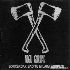 Discos de vinilo: LP NEGU GORRIAK BORREROAK BADITU MILAKA AURPEGI VINILO. Lote 277753513