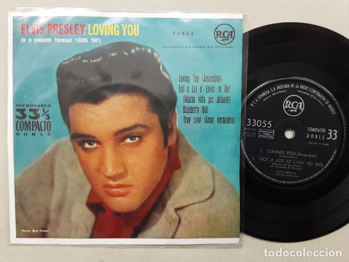 EP ELVIS PRESLEY, LOVING YOU, BLUEBERRY HILL, TRUE LOVE + 1 , ORIGINAL EDICIÓN 33 R.P.M. 1961 (Música - Discos de Vinilo - EPs - Rock & Roll)