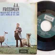 Discos de vinilo: J.A. FREEDMAN. WHEN YOU WALKED OUT OF MY LIFE. SINGLE ORIGINAL ESPAÑA 1970. Lote 277756823
