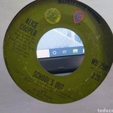 Discos de vinilo: ALICE COOPER SINGLE SCHOOL'S OUT U.S.A. 1972 ESCUCHADO. Lote 277764828