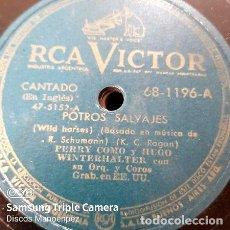 Discos de vinilo: DISCO PASTA PERRY COMO Y HUGO WINTELHALTER RCA VICTOR C142. Lote 277777983