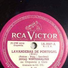 Discos de vinilo: DISCO DE PASTA 78 RPM RCA VICTOR 1A 0587 HUGO WINTERHALTER. Lote 277778448