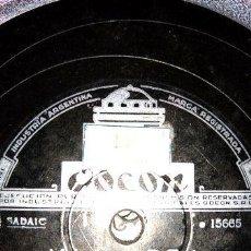 Discos de vinilo: DISCO PASTA HUGO ROMANI VICTOR LISTER ODEON C119. Lote 277797158