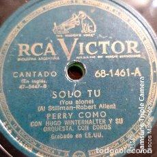 Discos de vinilo: DISCO PASTA PERRY COMO HUGO WINTERHALTER ORQ RCA VICTOR C145. Lote 277797513