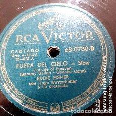 Discos de vinilo: DISCO PASTA EDDIE FISHER HUGO WINTERHALTER RCA VICTOR C151. Lote 277815603