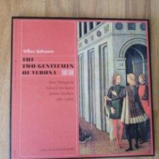 Discos de vinilo: ALBUM 3 VINILOS WILLIAM SHAKESPEARE, THE TWO GENTLEMEN OF VERONA. Lote 277820833