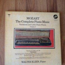 Discos de vinilo: ALBUM 3 VINILOS MOZART, WALTER KLIEN, PIANO. Lote 277821288