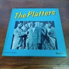 Discos de vinilo: THE PLATTERS - CAJA CON 3 LPS - IMPACT. Lote 277821438