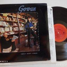 Discos de vinilo: GOWAN - GREAR DIRTY WORLD - LP CANADA COLUMBIA 1987. Lote 277821473