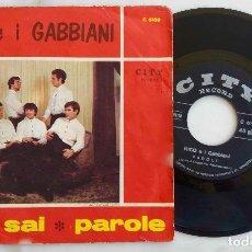 Discos de vinilo: NICO E I GABBIANI. ORA SAI. SINGLE ORIGINAL ITALIA AÑOS 60. Lote 277836423