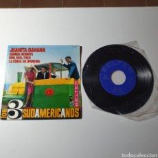 Discos de vinilo: 21-1. LOS 3 SUDAMERICANOS - JUANITA BANANA/CUMBIA BENDITA/UNO DOS TRES/LA CHICA DE IPANEMA, BELTER.. Lote 278156448