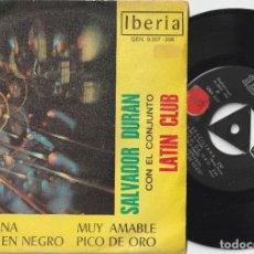Discos de vinilo: SALVADOR DURAN CON EL CONJUNTO LATIN CLUB – BRASILIANA + 3 (EP IBERIA 1969). Lote 278157403