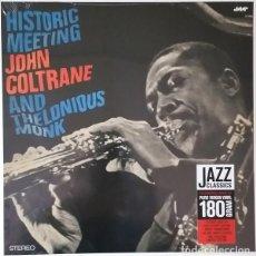 Discos de vinilo: JOHN COLTRANE AND THELONIOUS MONK – HISTORIC MEETING -LP-. Lote 278175128