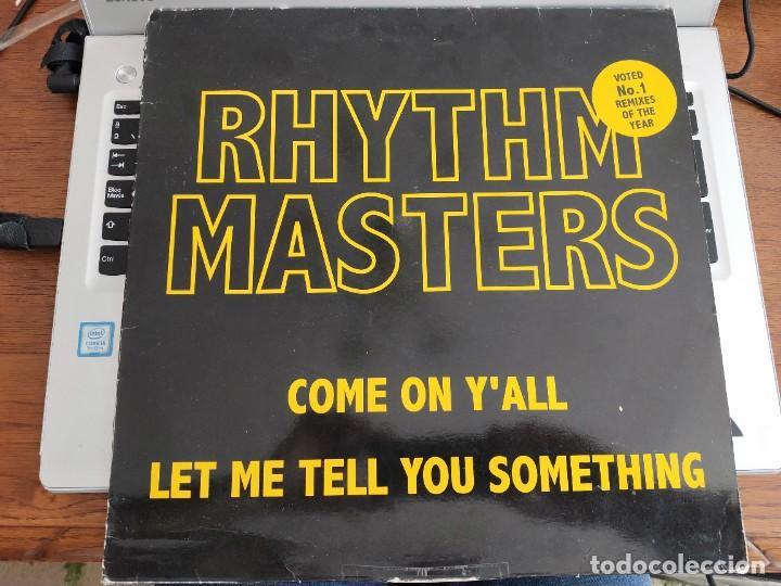 """RHYTHM MASTERS - COME ON Y'ALL/LET ME TELL YOU SOMETHING (12"""")CNR MUSIC 4900301.BUEN ESTADO.NM/VG+ (Música - Discos de Vinilo - Maxi Singles - Electrónica, Avantgarde y Experimental)"""