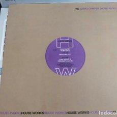 "Discos de vinilo: DAVID CAMPOY - HONG KONG (12"") SELLO:HOUSE WORKS HW 76-167.COMO NUEVO. MINT / NEAR MINT. Lote 278198958"